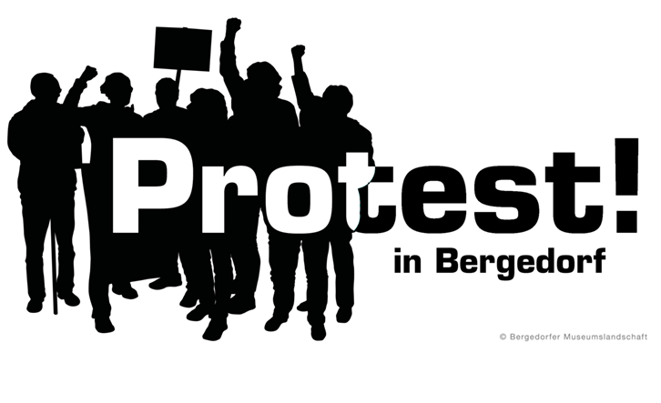 Protest in Bergedorf